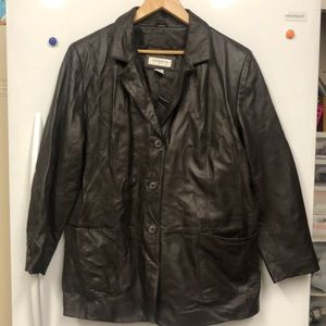 Preston & York 2X Jacket Brown lambskin Leather
